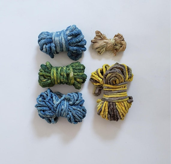 Botanically Dyed Fiber Grab Bag- Sea Grass