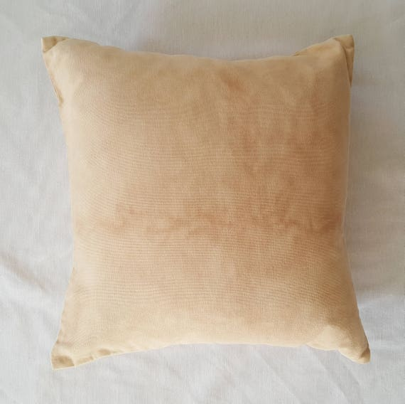 Botanically Dyed Cushion Cover / Down Insert / Natural Dyed Pillow / Decorative Pillow / Hand dyed / Housewarming gift / Natural Color