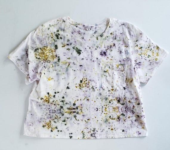 ORGANIC Richer Poorer- Bundle Dyed Boxy Crop Tee | Dyed Tee | Botanically Dyed Tee | Natural Dyed T-shirt