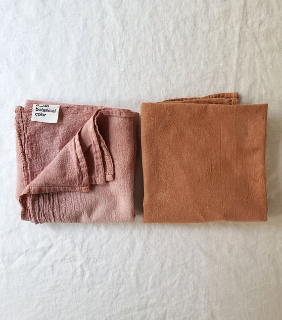 Botanically Dyed Floursack Tea Towel / Kitchen Linens / Naturally Dyed / Dyed Cotton / Bathroom Linens / Hand towels / Natural Color
