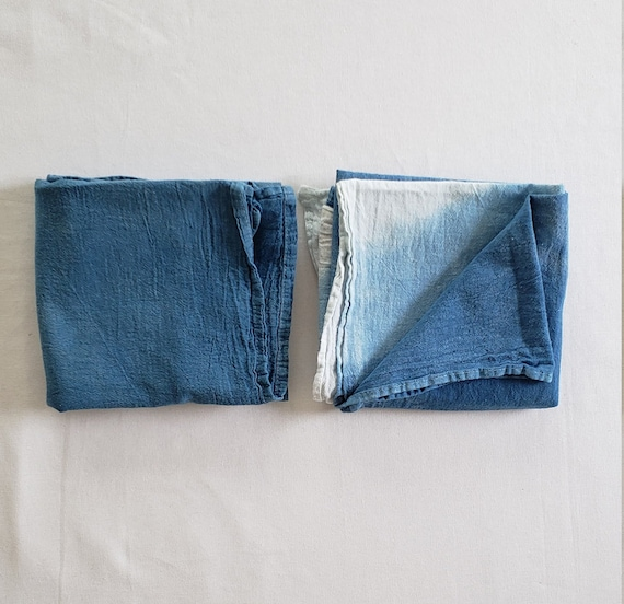 Botanically Dyed Floursack Tea Towel / Kitchen Linens / Indigo Dyed / Dyed Cotton / Bathroom Linens / Hand towels / Natural Color