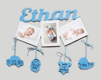Personalized Baby Gifts First Boy Birthday Gift Frame 1st New Announcement For Godson