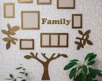 Family Tree Frame Wall Decor Family Tree Frames Personalised Family Tree Anniversary Gift For Parents From Grandchildren Grandparents Gift