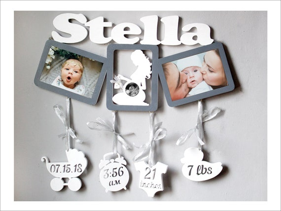 Personalized 1st Birthday Gifts For Girl Baby Stats Ultrasound