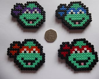 Teenage Mutant Ninja Turtle Faces Perler/Hama/Pixel Bead