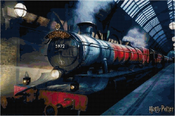 Drawing Train Harry Potter - Hogwarts Express, HD Png Download ... | 380x570