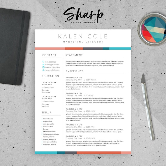 Modern Resume Template For Word Professional