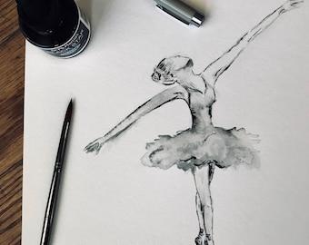 Ballerina in Arabesque (Art Print) **PRESALE**