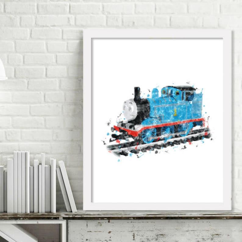 Printable Thomas The Tank Engine Watercolor Train Wall Art Etsy