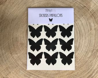 Butterfly stickers. 24 pieces. various colors