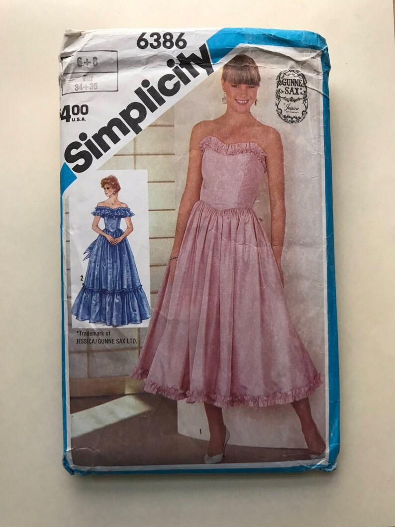 bd156cc4117ac 80s Gunne Sax prom dress sewing pattern | Etsy