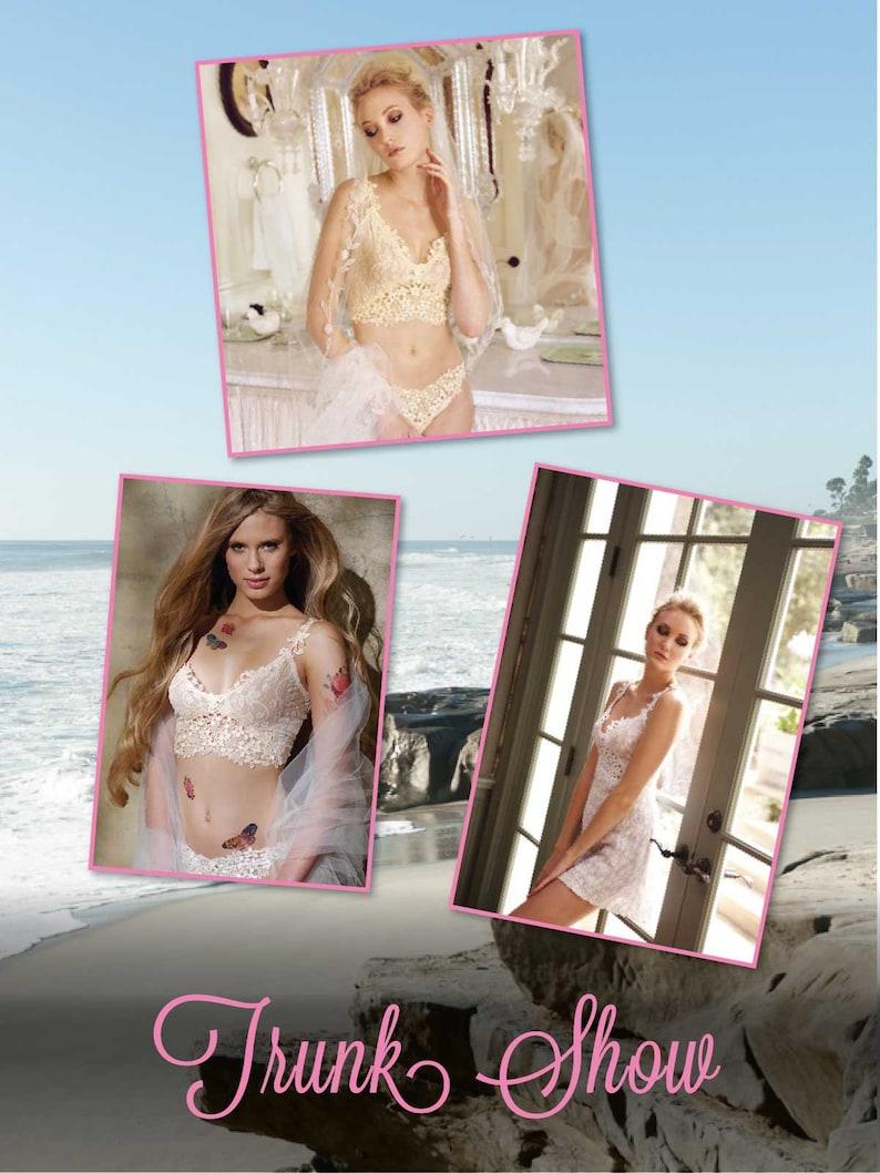 Claire Pettibone Set VTG Cami Lace Shorts Cassandra Luxury Lingerie Ivory Scalloped Lace 14 KT S LA Designer Original NeW Bombshell Couture