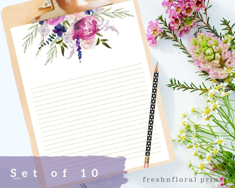 image about Printable Letter Papers named Floral Crafting Paper Printables, Letter paper, 8.5 x 11 in just, Floral Card Paper, Floral letter paper, Immediate Downloads, Floral Sbook package
