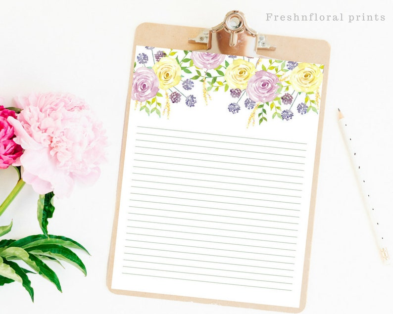 image about Printable Letter Papers known as Floral Crafting Paper, Printables, Letter paper, Floral Card Paper, Floral letter paper, Immediate Downloads, Floral Stationery, Pastel Spring