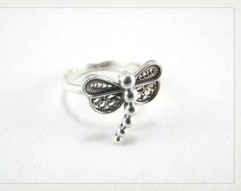 Dragonfly ring Filigree •  Silver Ring dragonfly •  ring Filigree • Silver 925 • Paola Siza Jewelry
