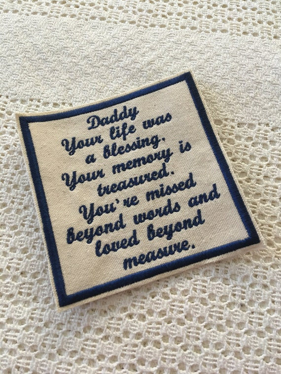 MEMORY SHIRT 5x5 PILLOW Patch, In