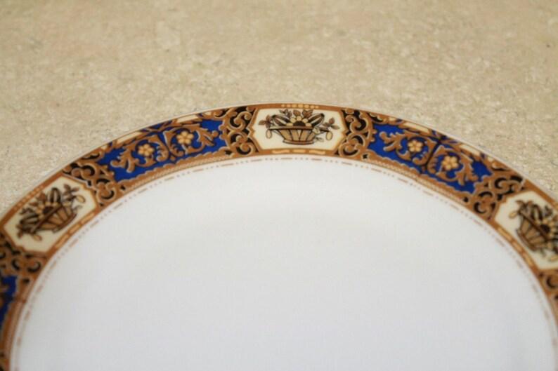 Set of 4 Victoria China Czechoslovakia Gold Trim 7.5 SaladBread Plates