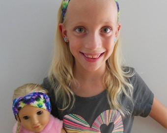 American Girl Doll // Matching Headbands // Dolly and Me Headbands // Jersey Headbands // Tie Dye // Stretchy Headbands