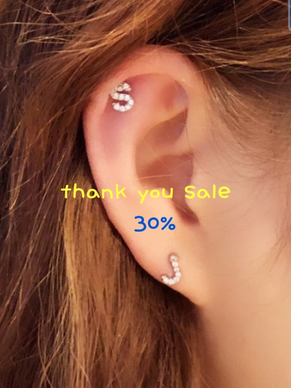 Covet Jewelry CZ Paved Heart with Wings 316L Surgical Steel Cartilage Tragus Barbell Studs