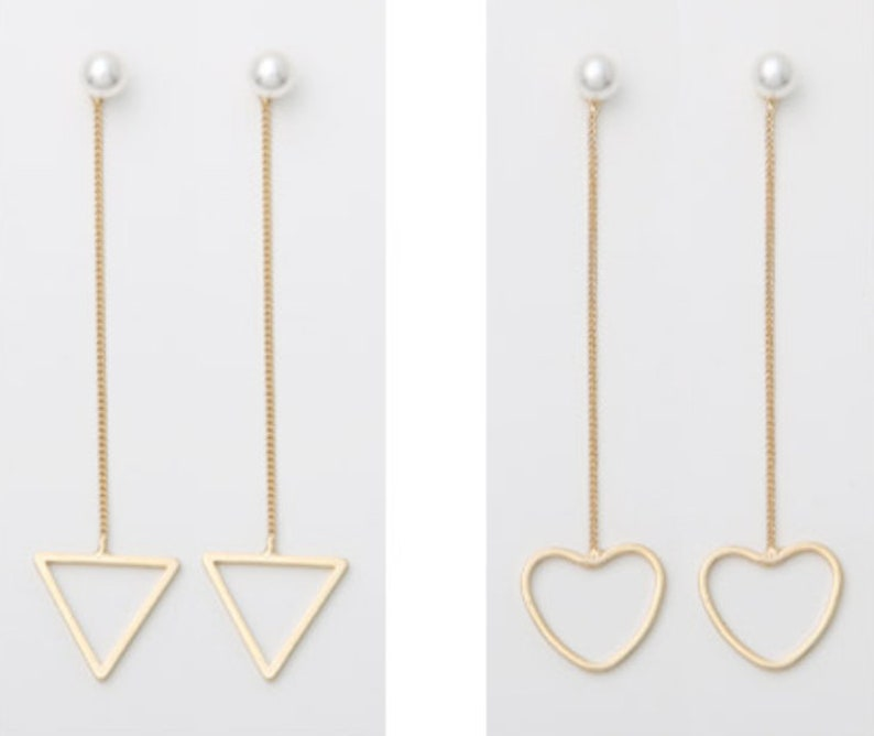 Pearl figure drop earring unique style Various wearing way