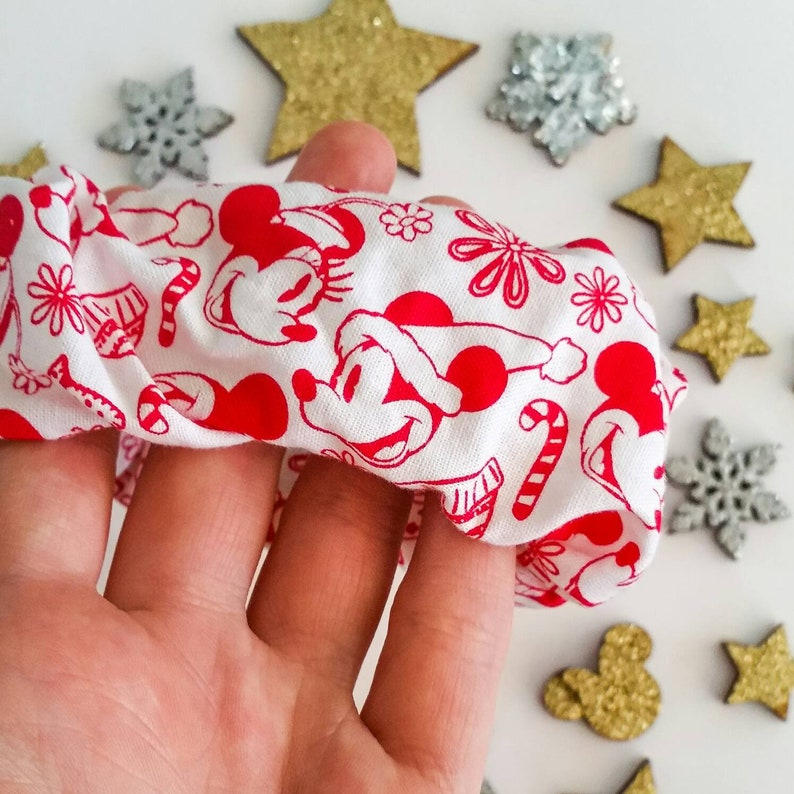 CHRISTMAS DISNEY SCRUNCHIE  Gorgeous Festive Mickey and image 0