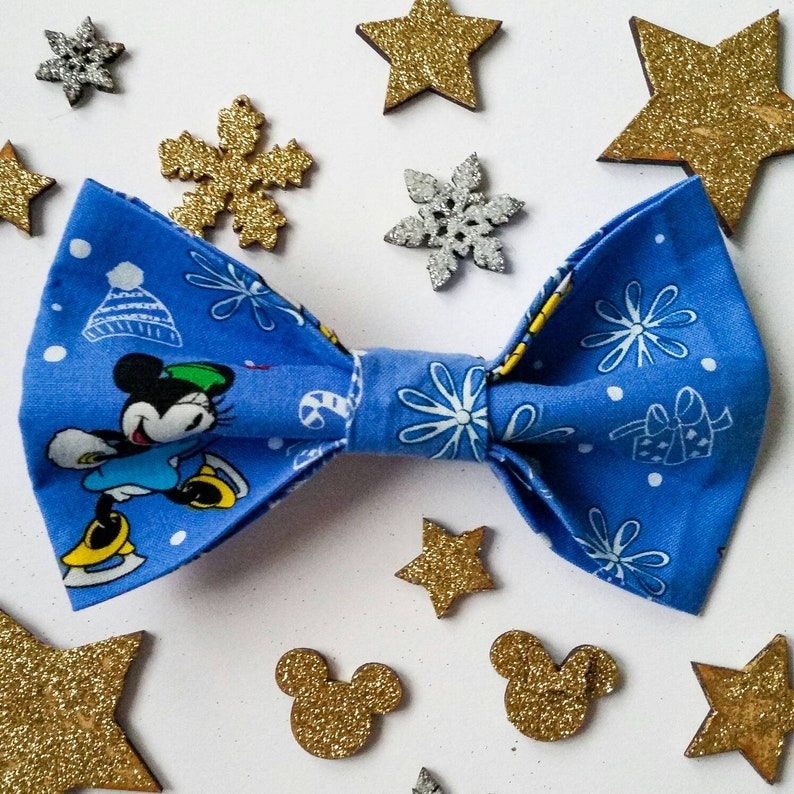 CHRISTMAS DISNEY BOW  Gorgeous Festive Mickey and Minnie image 0