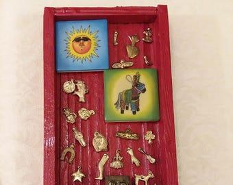 Loteria, nicho, altar, shrine, mexican folkart