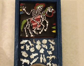 Nicho, Altar, Shrine, Day of the Dead, Milagros, Mother and Child, Calavera, Catrin