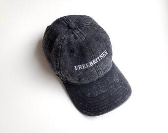 08a11954 FREE BRITNEY Dad Hat | #Free Britney | Britney Spears Hat | Embroidered Hat  | Vintage Hat | Vintage Wash Hat | #FreeBritney Hat