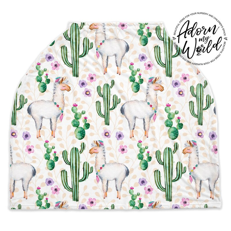 Llama Baby Seat Cover Cactus Cacti New Baby Gift For Girl Nursing Cover Unisex Baby Car Seat Cover Llama For Boy Infant Seat Cover