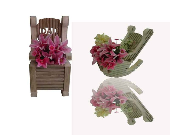 Rocking & Single Chair Planter,Hand Crafted