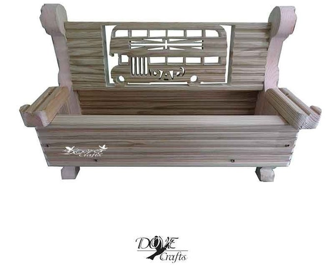 Bench Planter Personalised with your choice of Symbols,Hand Crafted