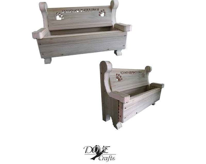 Bench planter for Pets Hand Crafted