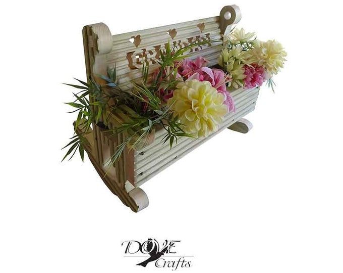 Rocking Bench Planter with personalisation, Hand Crafted