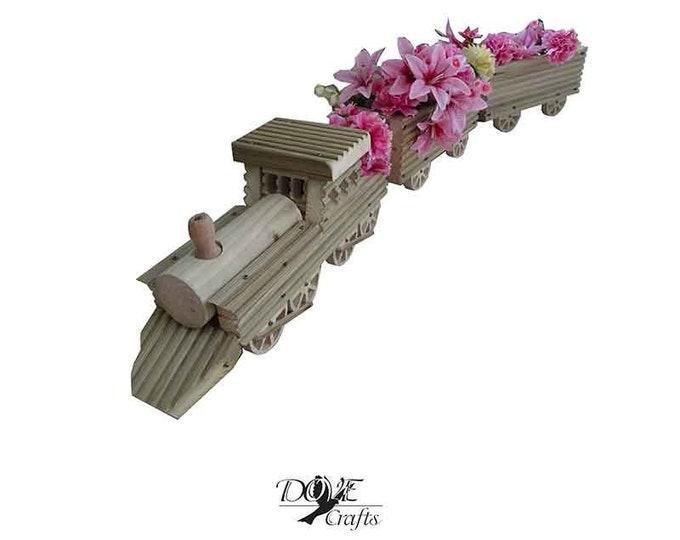 Train Planter Set, Hand Crafted
