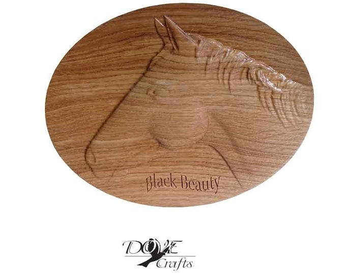 Horse Name and Stable Plaque Carving