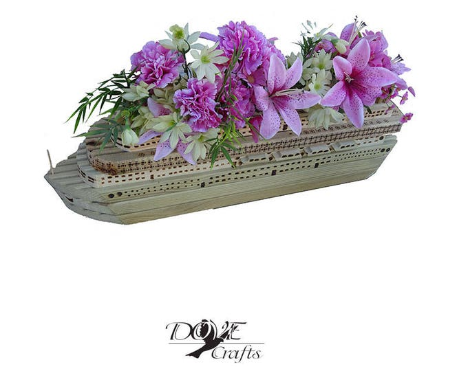 Cruise Ship Planter, Hand Crafted