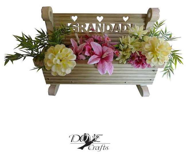 Rocking Bench Planter with personalisation, Hand Crafted**No Christmas Guarantee**