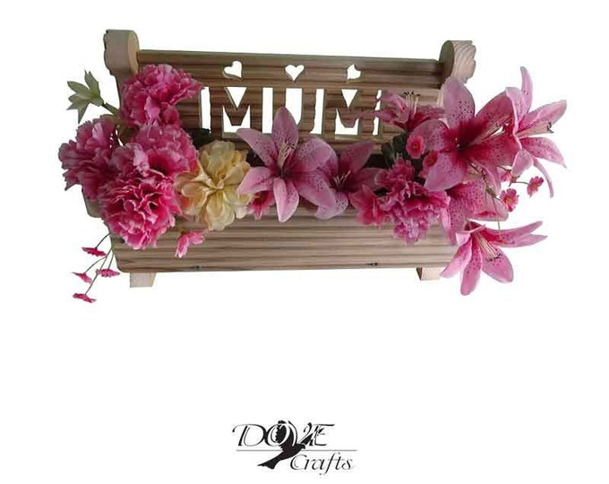 Bench Planter with carving