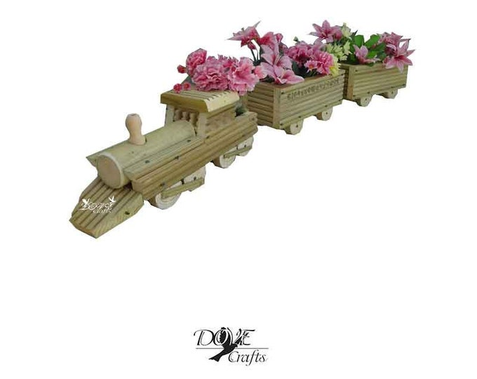 Train Planter Set,Hand Crafted**No Christmas Guarantee**