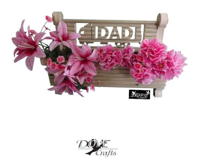 Bench Planter Personalised with your choice of Symbols,Hand Crafted**No Christmas Guarantee**