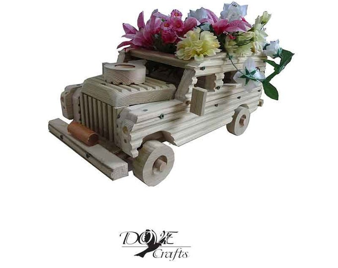 Land Rover Planter,Hand Crafted