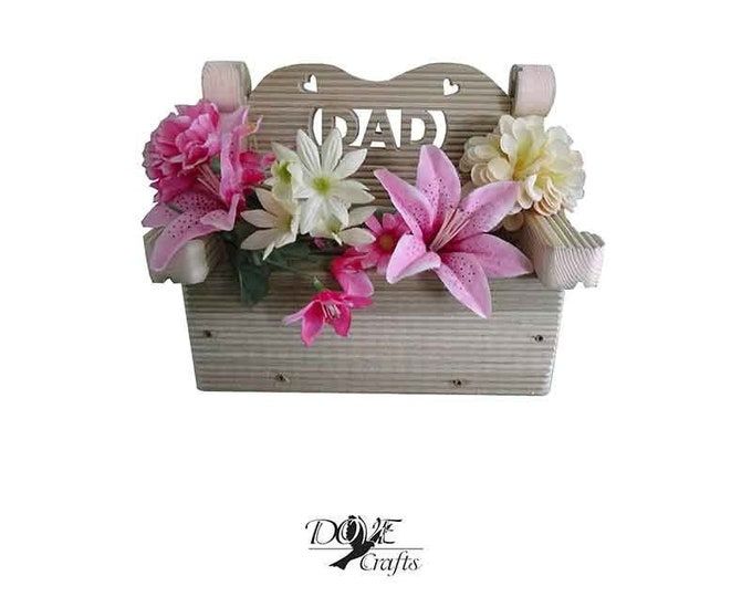 MUM/DAD Small and Big Bench Planter Hand Crafted