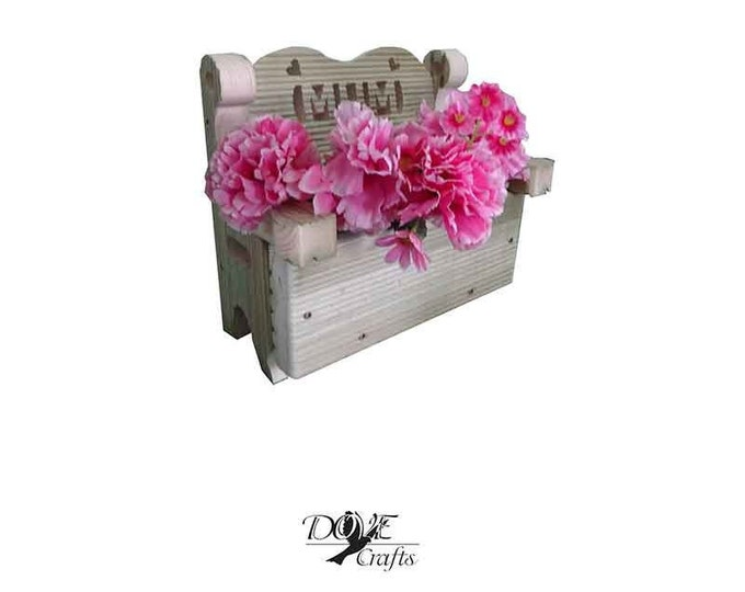 Mother's Day and Father's Day MUM/DAD Small and Big Bench Planter Hand Crafted