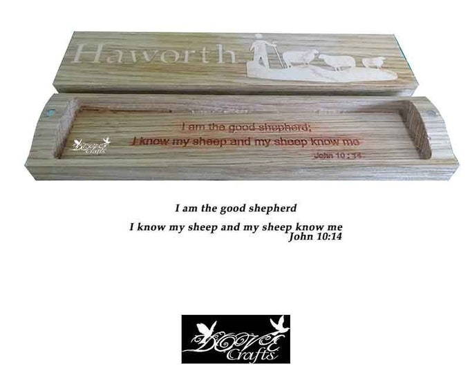 Wooden Pen & Pencil Box Carving and inlay Engraved Bible verse  and Mobil organizer Price is Offer