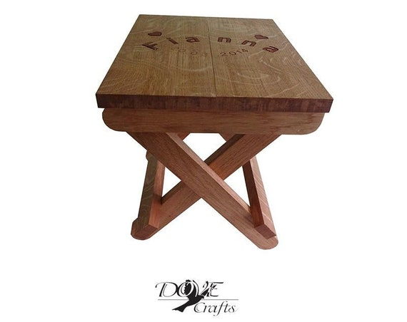 Folding Stool Personalised Name