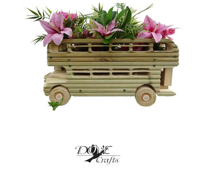 Double Decker Bus Planter, Hand Crafted