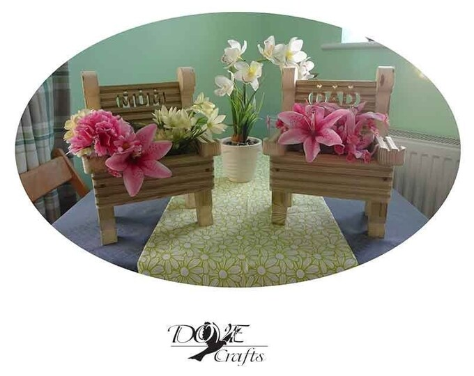 Chair Planter, Hand Crafted