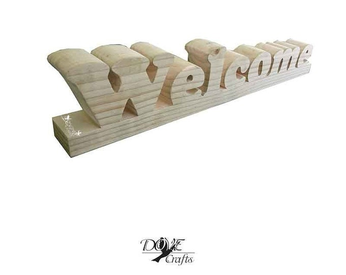 Wooden Free Standing Name Hand Crafted