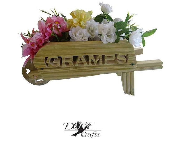 Wheelbarrow Planter Large, Hand Crafted
